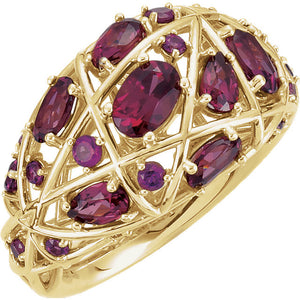 """Garnet and Gold"" Ring"