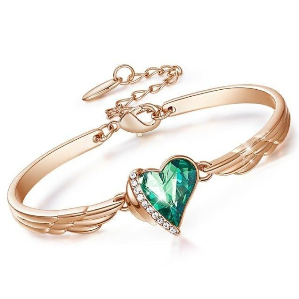 Green Angel Heart Bangle