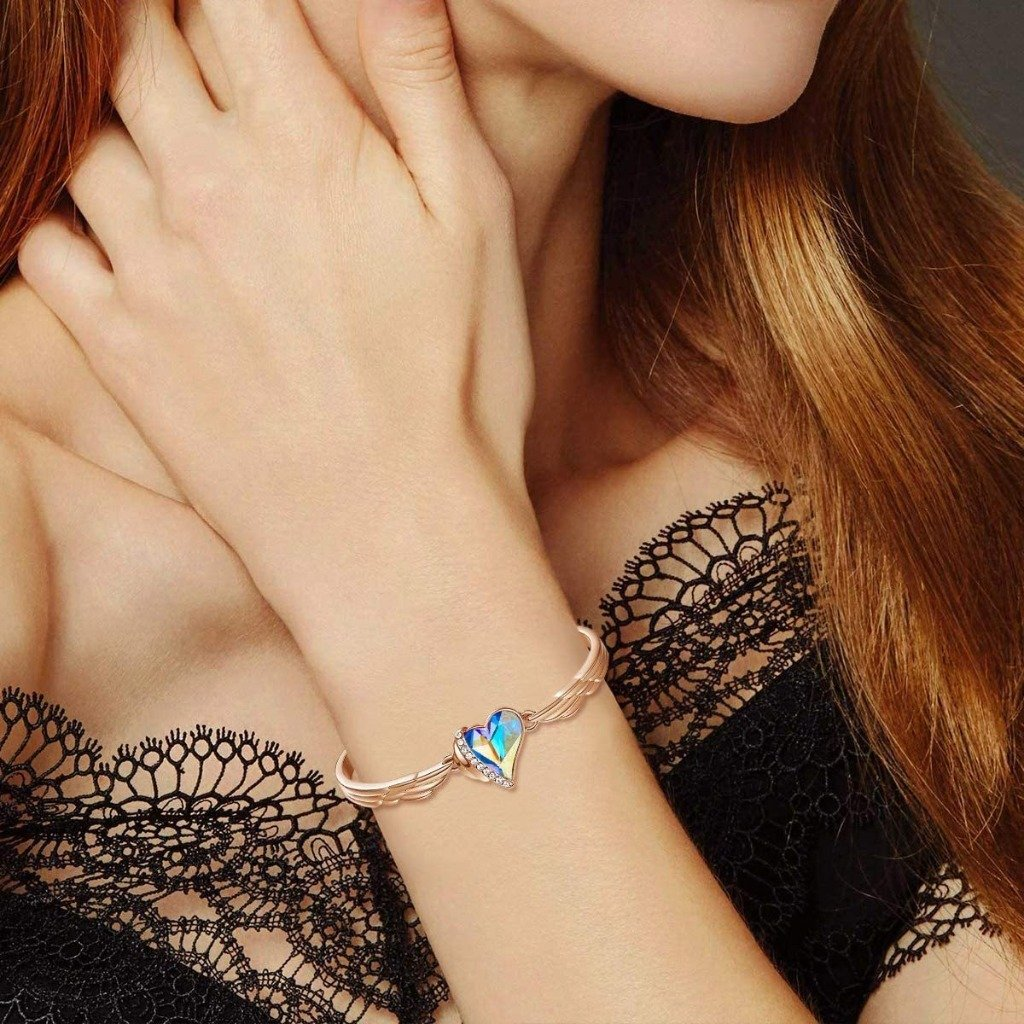 Azure Angel Heart Bangle