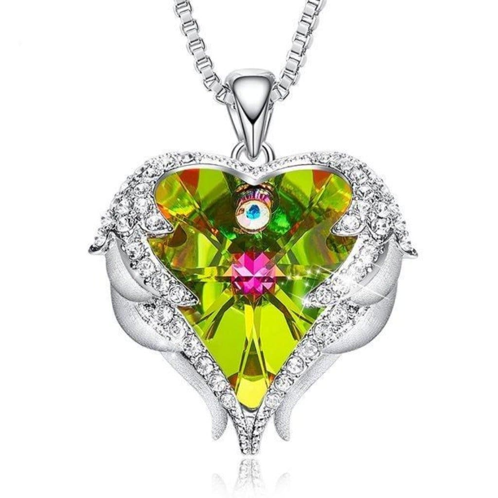 Olive Angel Wings Necklace