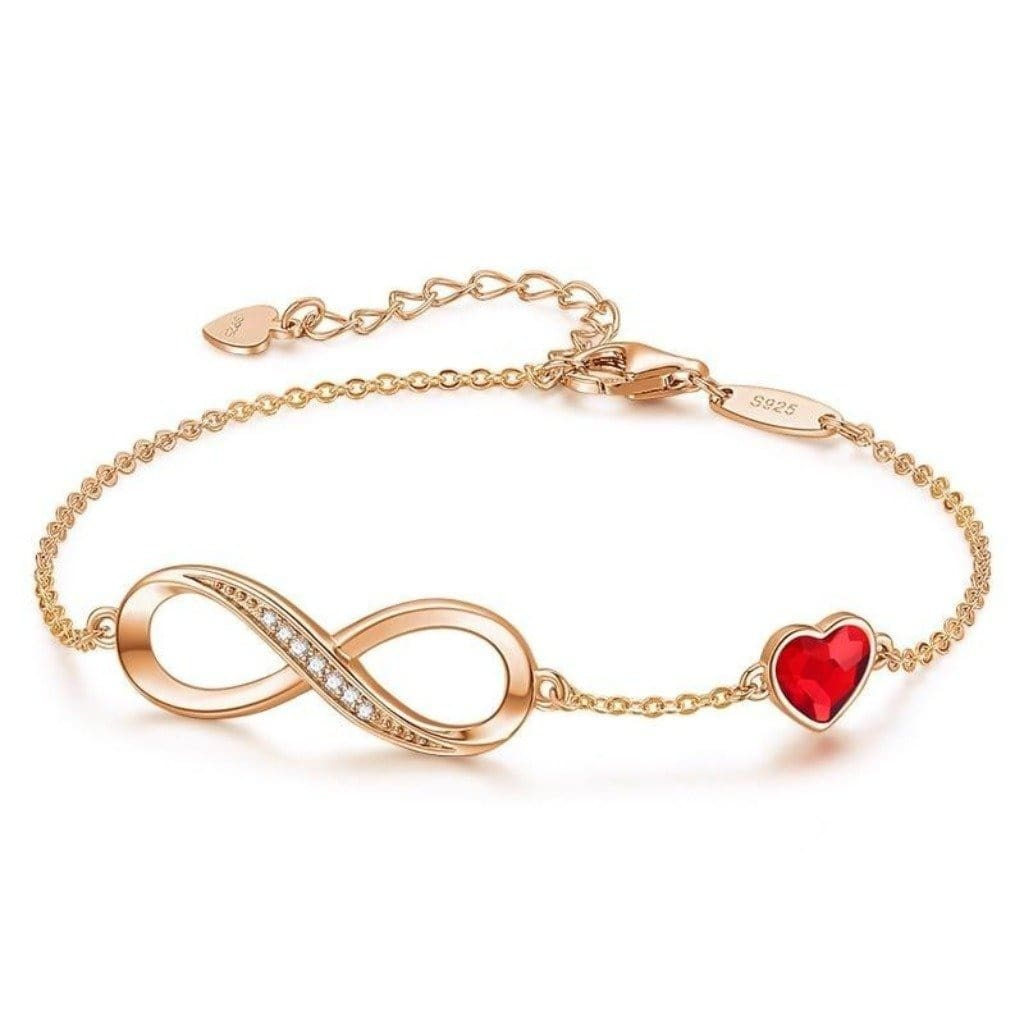 Rose Gold Eternal Love Bracelet