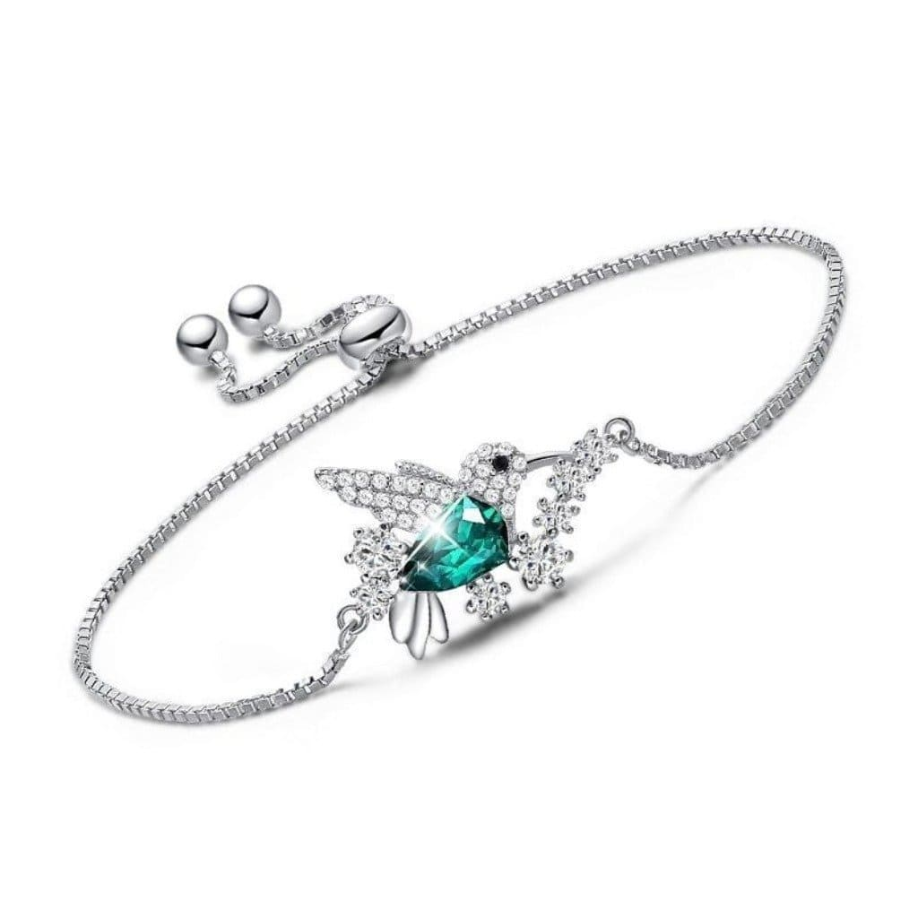 Emerald Flying Hummingbird Bracelet