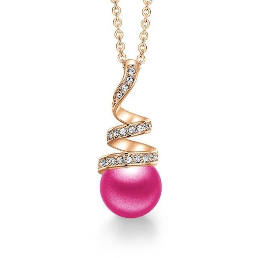 Pink Eternal Pearl Necklace