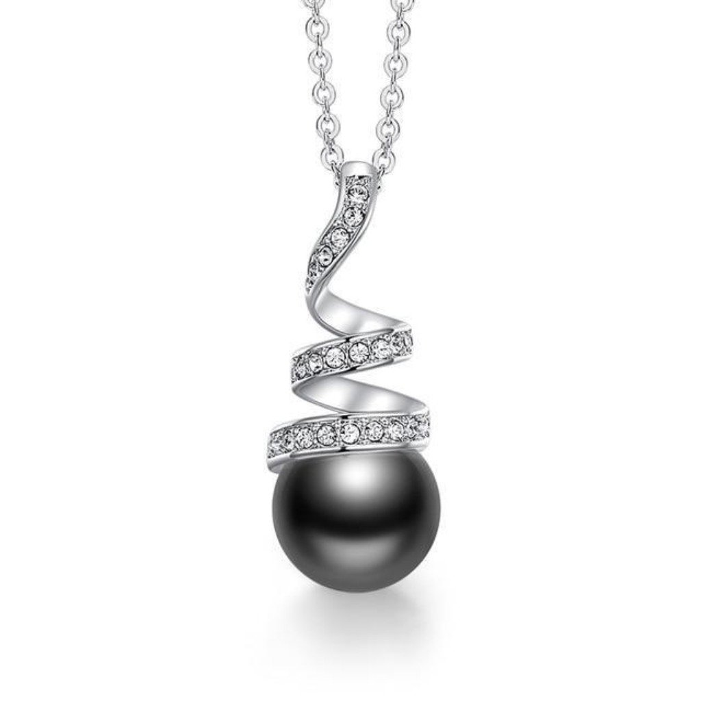 Black Eternal Pearl Necklace