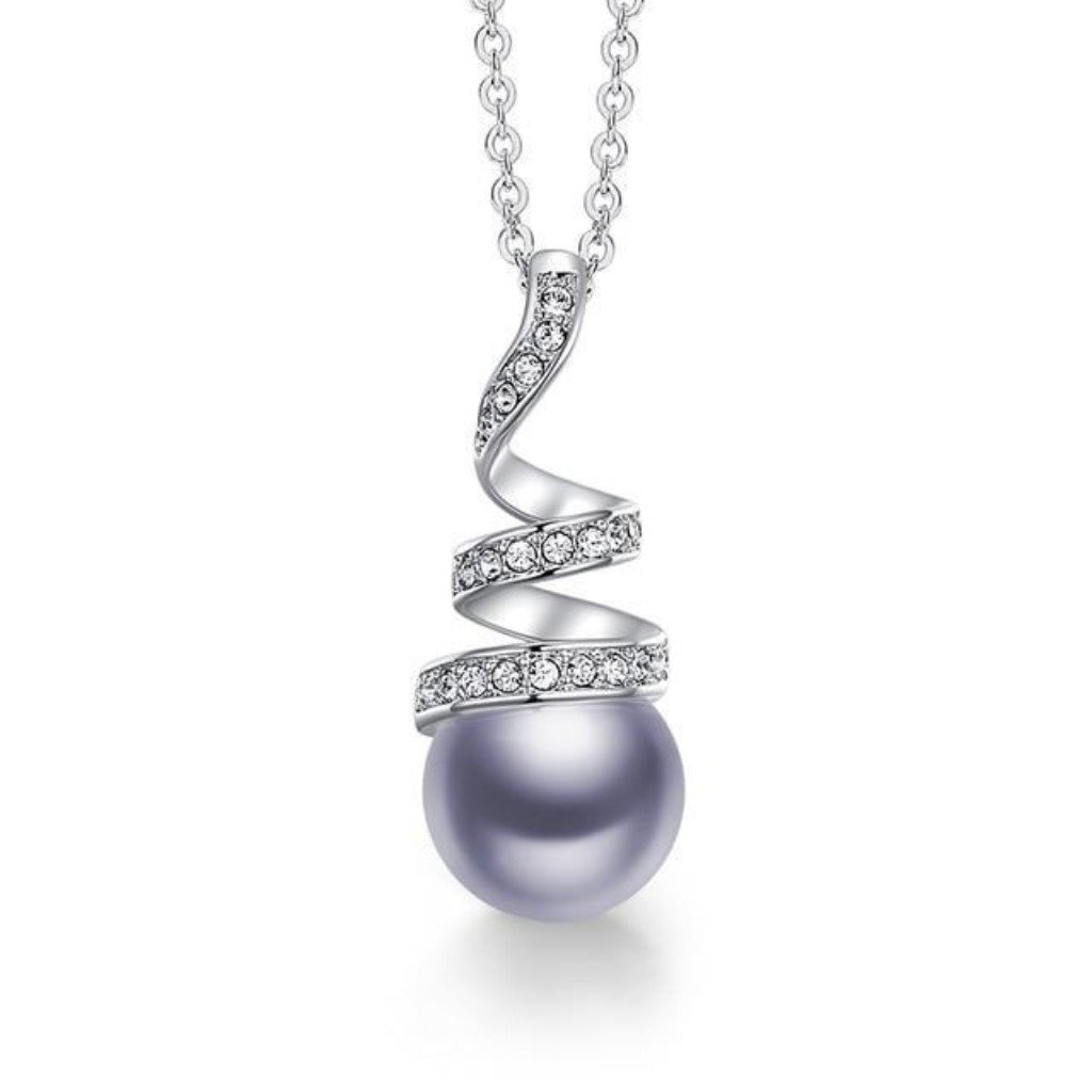 Grey Eternal Pearl Necklace