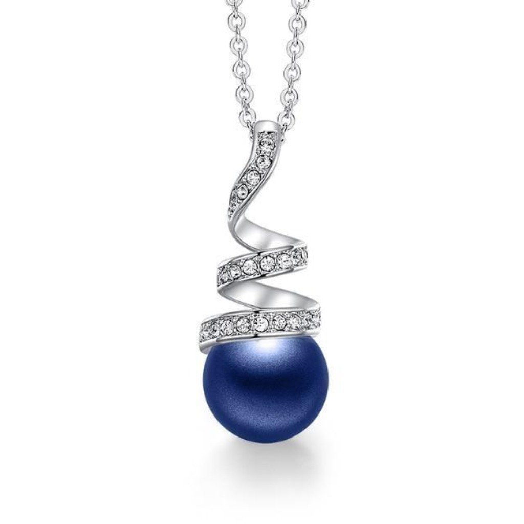 Blue Eternal Pearl Necklace
