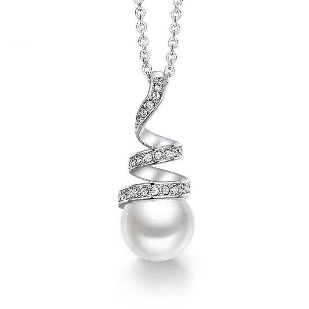 White Eternal Pearl Necklace
