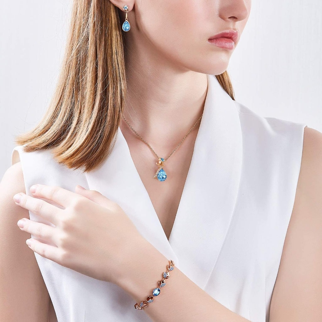 Blue Rose Love Bracelet