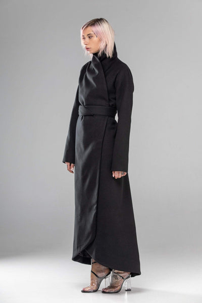 MDNT45 Coats & Jackets for Woman Winter Belted Maxi Coat