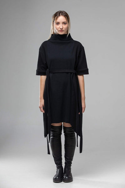 MDNT45 Dresses Gothic Black T-shirt Dress