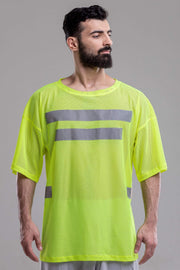 MDNT45 Geometric mens neon T-shirt