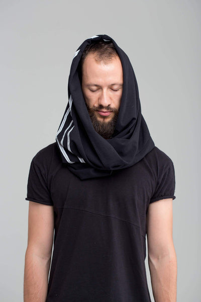 MDNT45 Scarfs & Snoods Black hooded cowl
