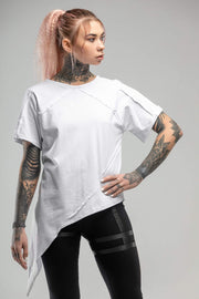 MDNT45 Tops&T-Shirts Asymmetric white T-shirt