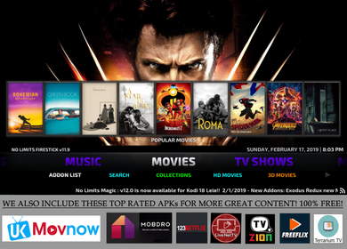 Latest Kodi 18.8 2020 Model Jailbroken Fire Stick HD Movies TV shows Free!