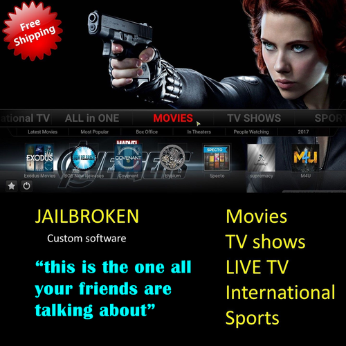 New! Kodi 18.4 Jailbroken Fire Stick with Live TV Full Channels HD