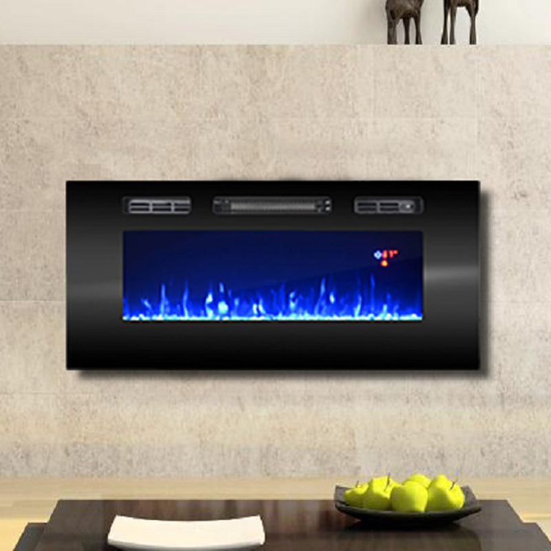 "40"" Electric Fireplace Recessed Wall Mounted Heater"
