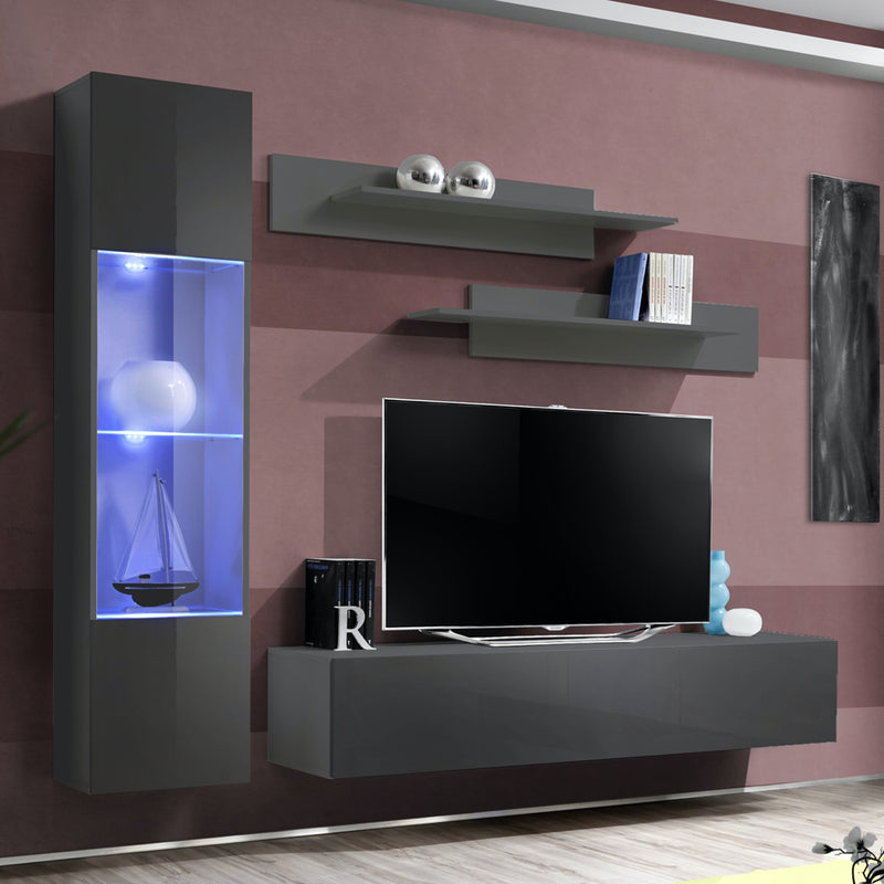 Fly G 30TV Wall Mounted Floating Modern Entertainment Center - Meble Furniture
