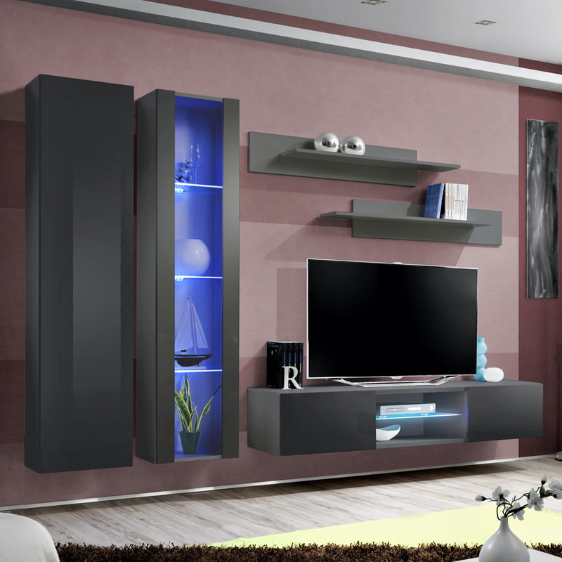 Fly A 33TV Wall Mounted Floating Modern Entertainment Center - Meble Furniture