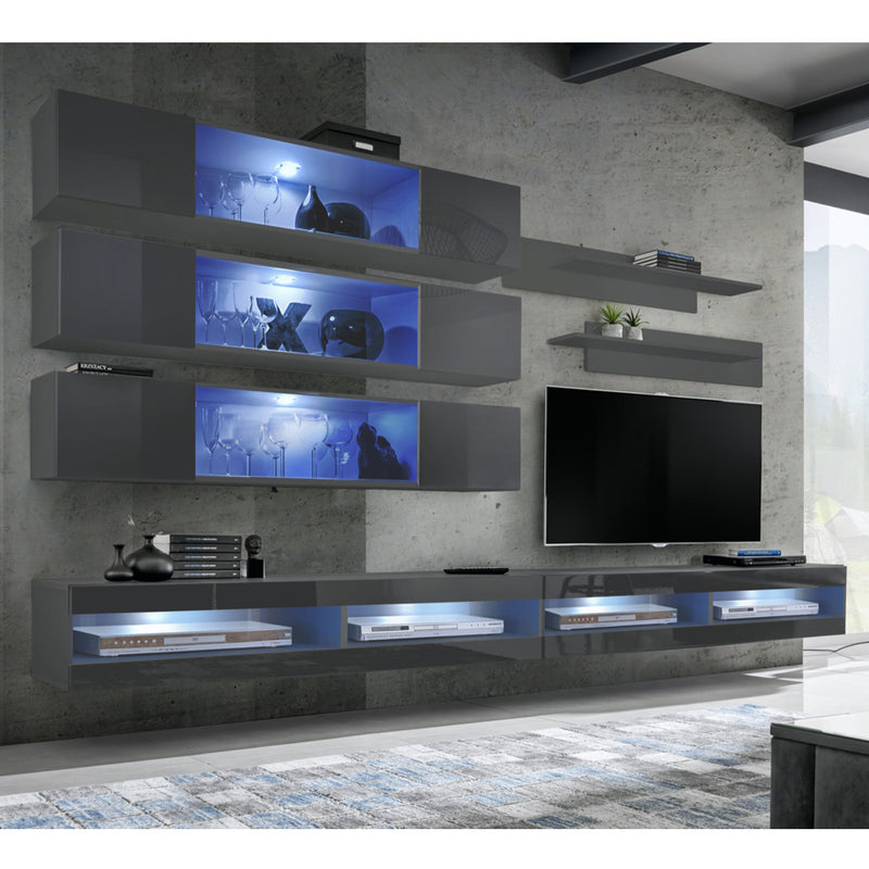 Fly J 34TV Wall Mounted Floating Modern Entertainment Center - Meble Furniture
