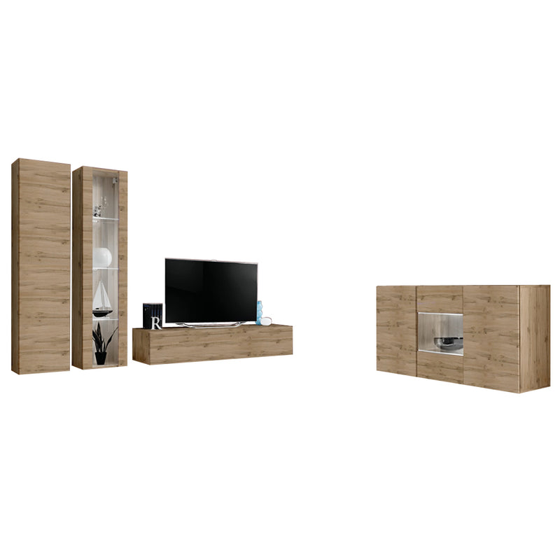 Fly SBII Wall Mounted Floating Modern Entertainment Center - Meble Furniture