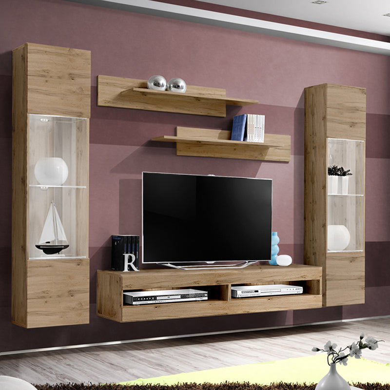 Fly A 34TV Wall Mounted Floating Modern Entertainment Center - Meble Furniture