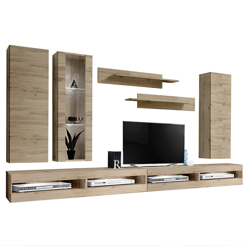 Fly E 34TV Wall Mounted Floating Modern Entertainment Center