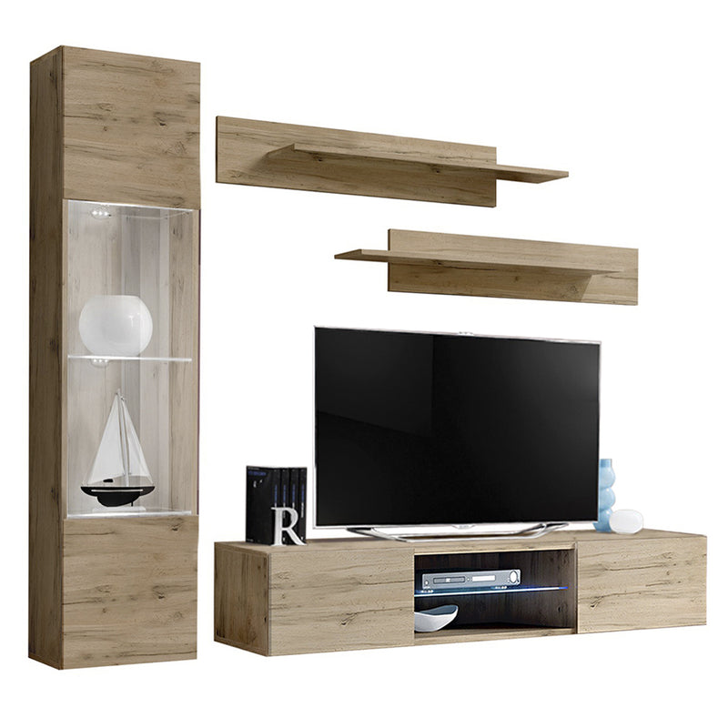 Fly G 33TV Wall Mounted Floating Modern Entertainment Center - Meble Furniture & Rugs