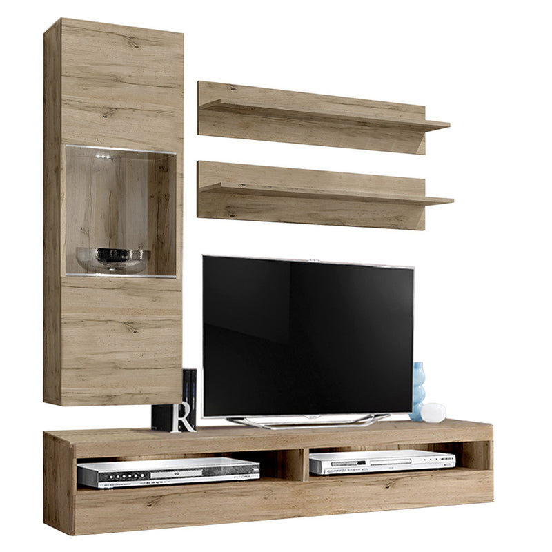 Fly H 35TV Wall Mounted Floating Modern Entertainment Center - Meble Furniture