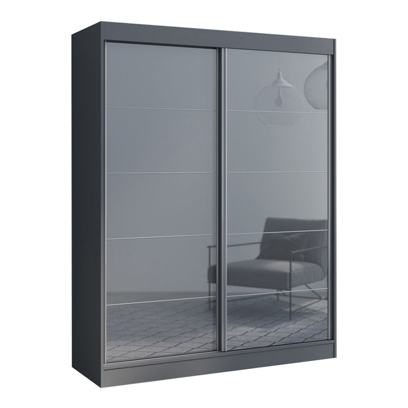 "Aria 2 Door Modern 47""/59"" Wardrobe - Meble Furniture & Rugs"