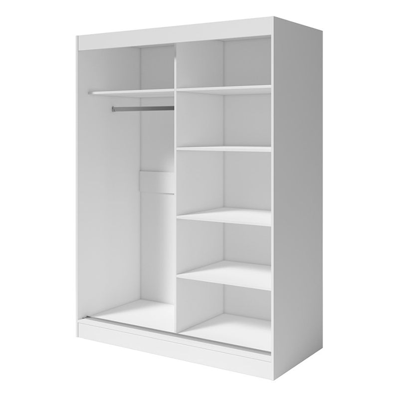 "Aria 2 Door Modern 47""/59"" Wardrobe"