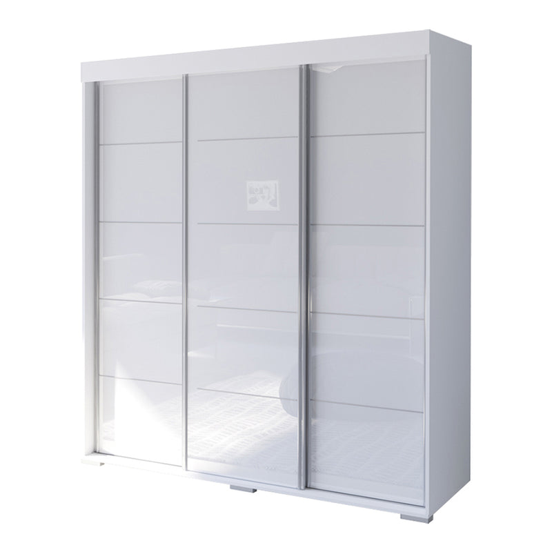 "Aria 3 Door Modern 71"" Wardrobe - Meble Furniture & Rugs"