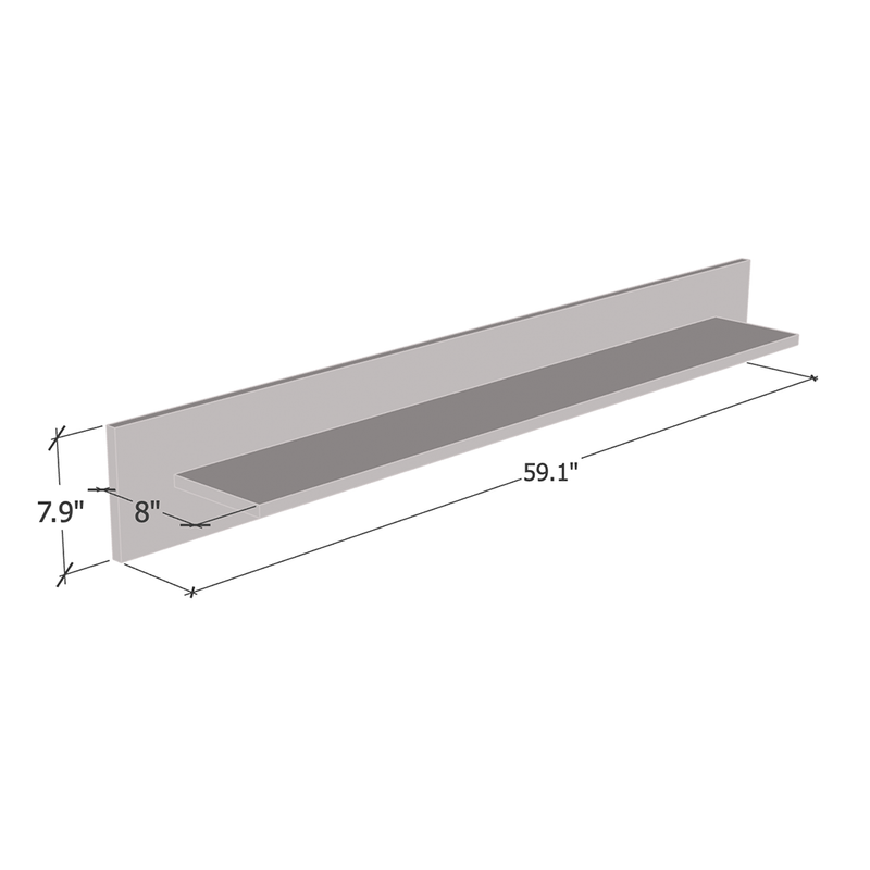 "Edge PW 59"" Shelf - Meble Furniture"