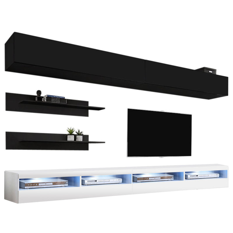 Fly I 35TV Wall Mounted Floating Modern Entertainment Center - Meble Furniture