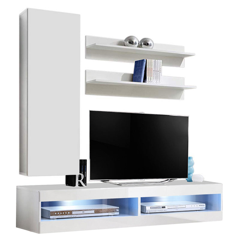 Fly H 34TV Wall Mounted Floating Modern Entertainment Center