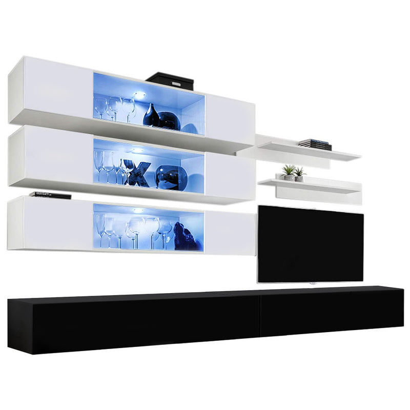 Fly J 30TV Wall Mounted Floating Modern Entertainment Center