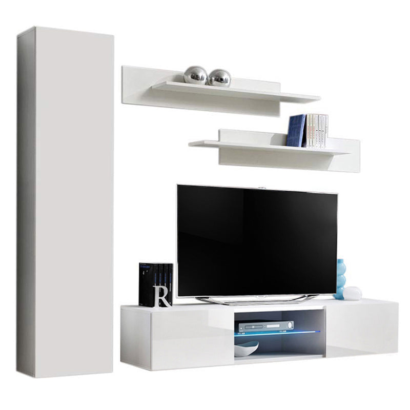 Fly G 33TV Wall Mounted Floating Modern Entertainment Center