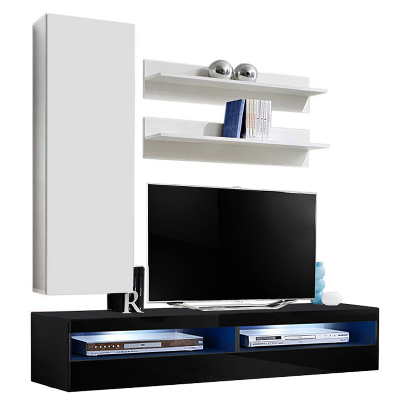 Fly H 35TV Wall Mounted Floating Modern Entertainment Center - Meble Furniture & Rugs