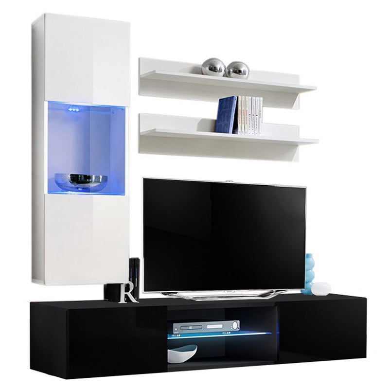 Fly H 33TV Wall Mounted Floating Modern Entertainment Center - Meble Furniture