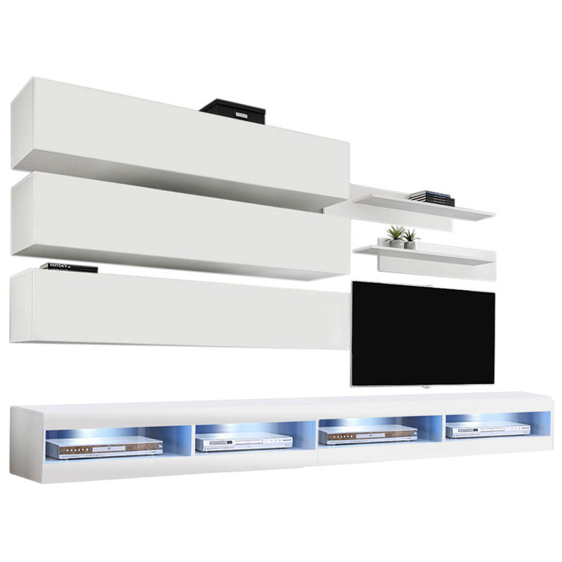 Fly J 34TV Wall Mounted Floating Modern Entertainment Center