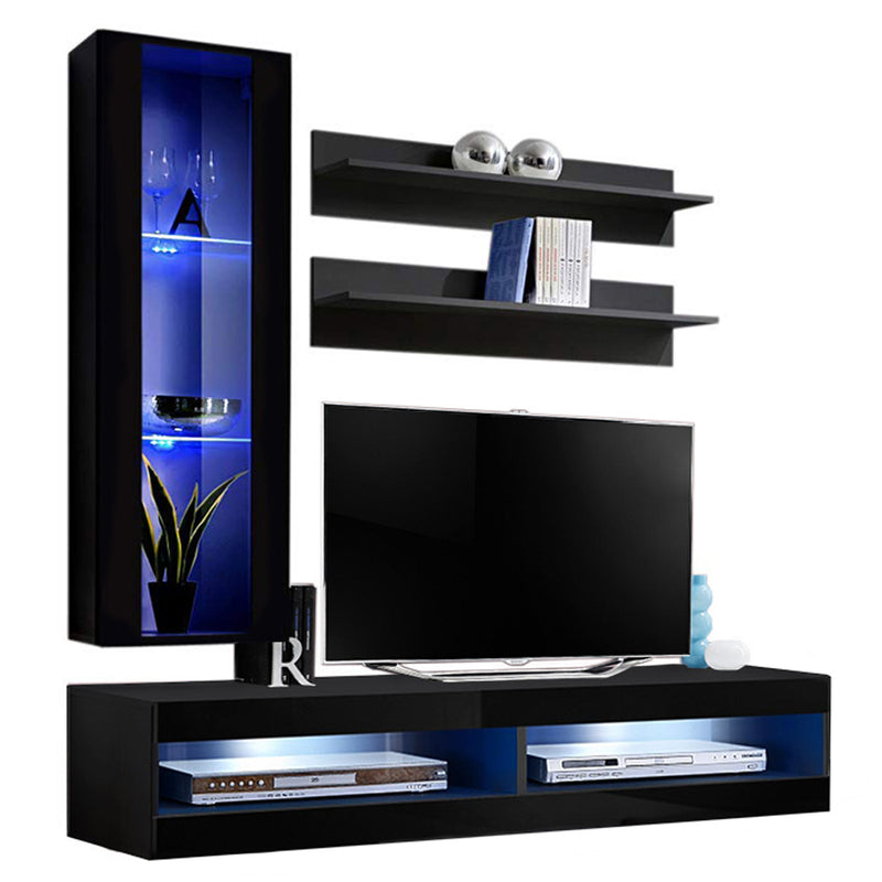 Fly H 34TV Wall Mounted Floating Modern Entertainment Center - Meble Furniture