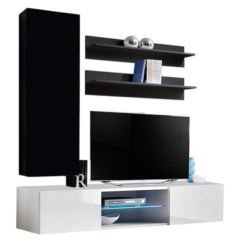 Fly H 33TV Wall Mounted Floating Modern Entertainment Center