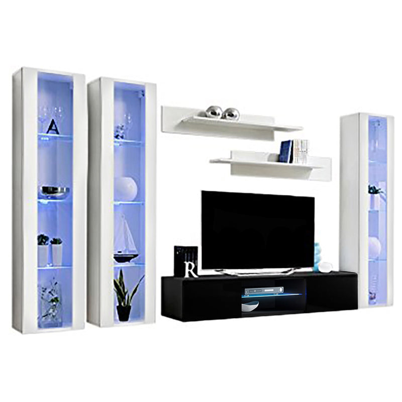 Fly C 33TV Wall Mounted Floating Modern Entertainment Center - Meble Furniture
