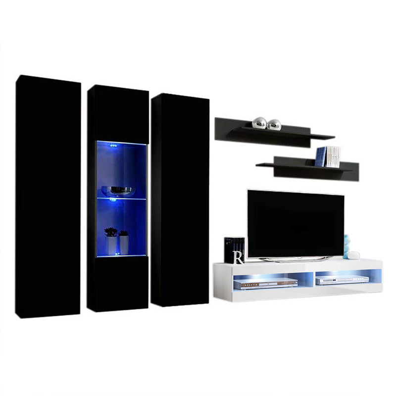Fly C 34TV Wall Mounted Floating Modern Entertainment Center - Meble Furniture & Rugs