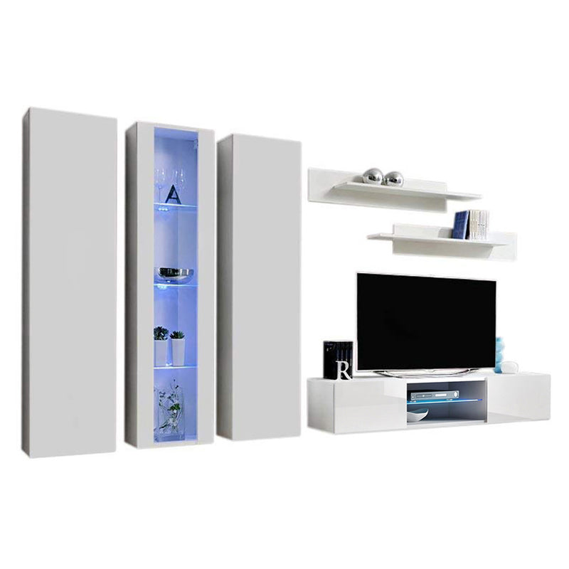 Fly C 33TV Wall Mounted Floating Modern Entertainment Center