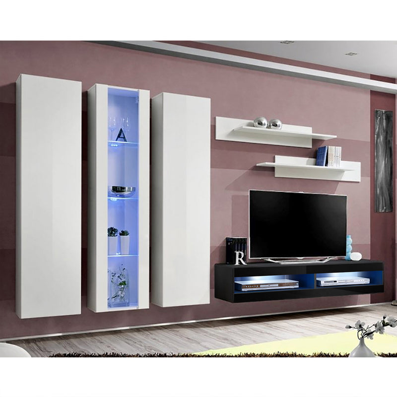 Fly C 34TV Wall Mounted Floating Modern Entertainment Center