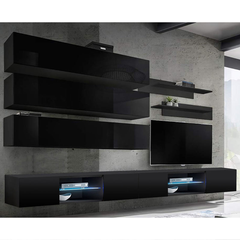 Fly J 33TV Wall Mounted Floating Modern Entertainment Center