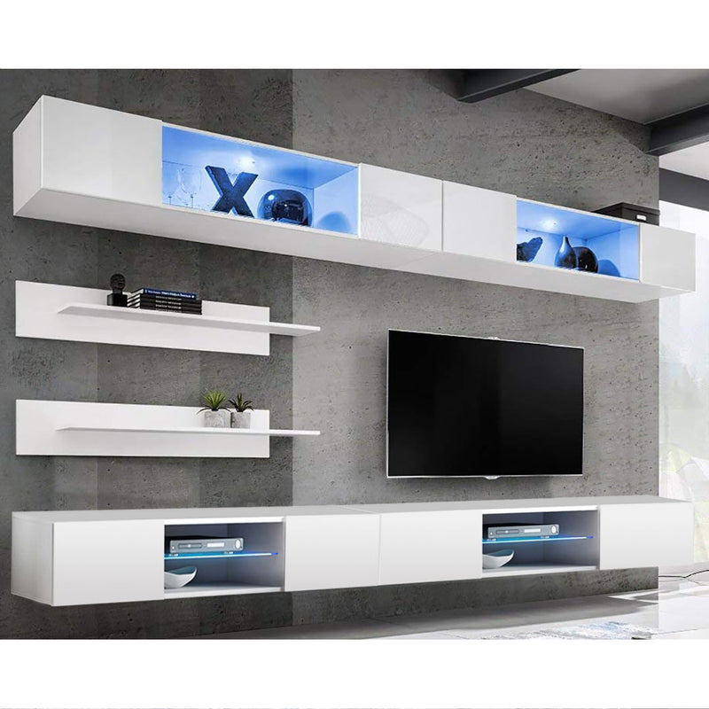 Fly I 33TV Wall Mounted Floating Modern Entertainment Center - Meble Furniture