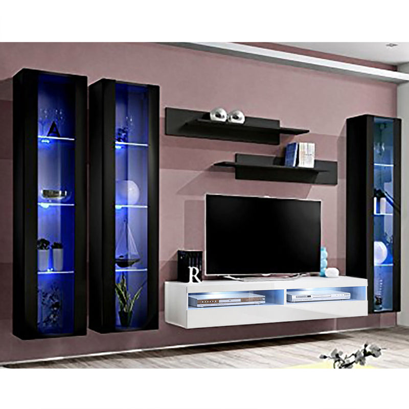 Fly C 35TV Wall Mounted Floating Modern Entertainment Center