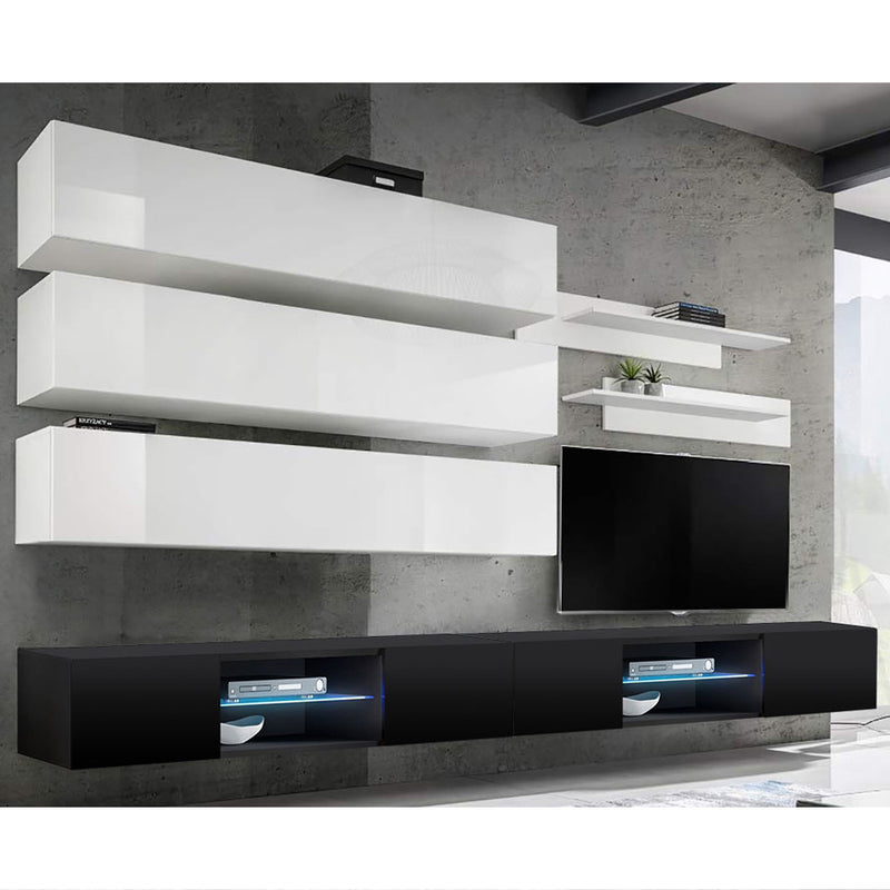 Fly J 33TV Wall Mounted Floating Modern Entertainment Center - Meble Furniture