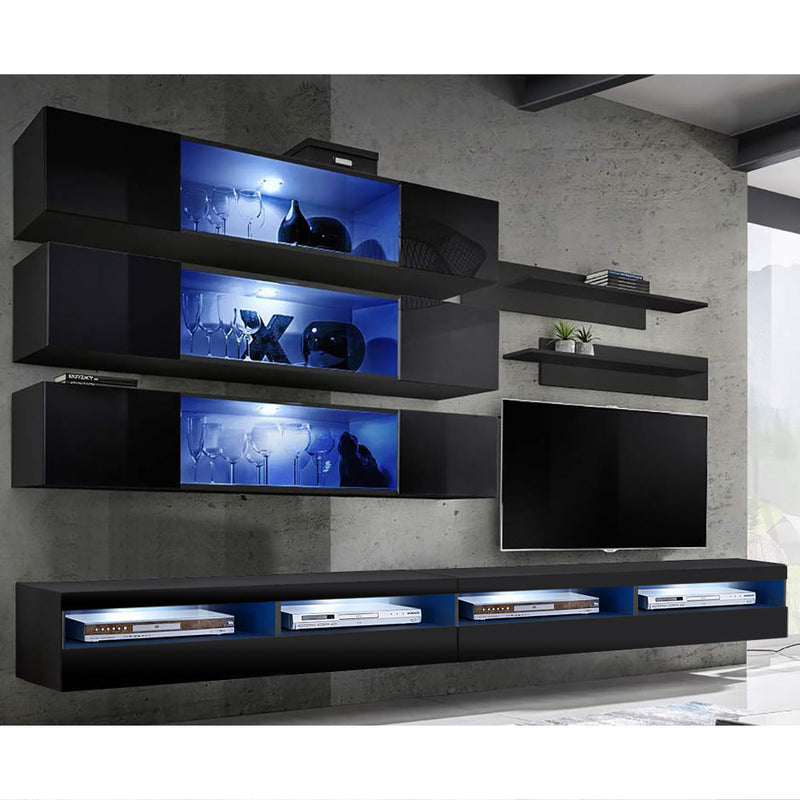 Fly J 35TV Wall Mounted Floating Modern Entertainment Center - Meble Furniture & Rugs